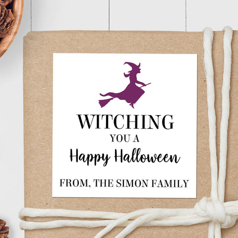 Halloween Witch - Square Gift Sticker