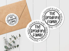 Load image into Gallery viewer, Whimsical Family Envelope Seal - Round Address Label