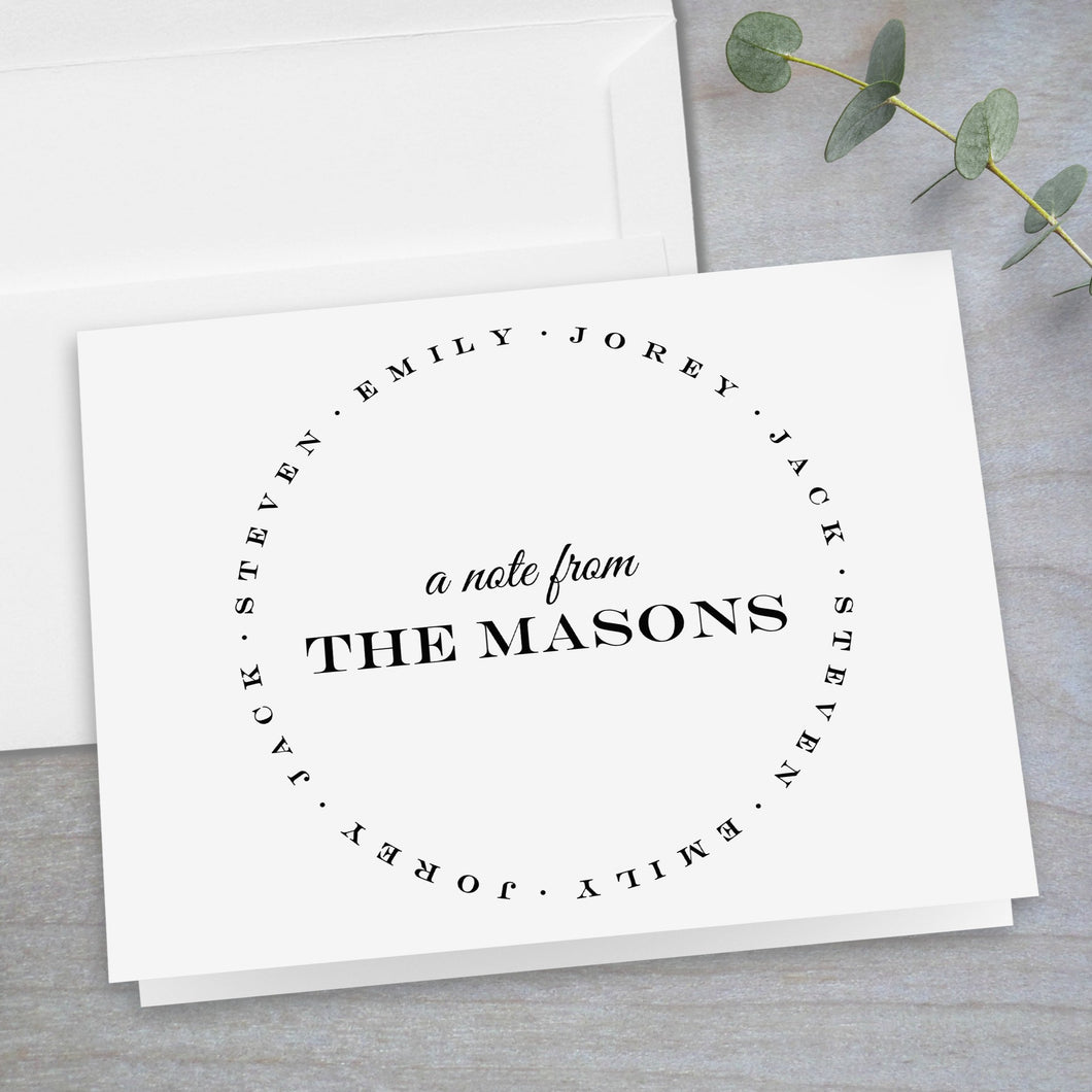 Family Circle Classic - Folded Note Card