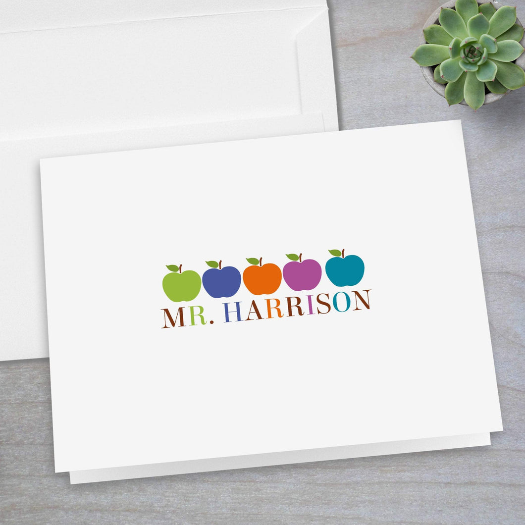 Colorful Apples -  Folded Note Card