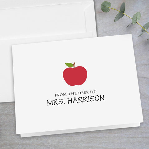 Red Apple -  Folded Note Card