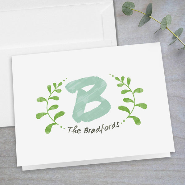 Watercolor Branches - Folded  Note Card