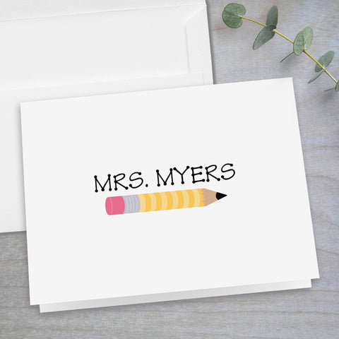 Yellow Pencil - Folded Note Card