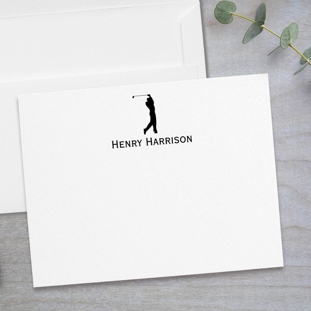 Golfer -  Flat Note Card