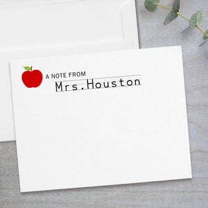 Red Apple -  Flat Note Card