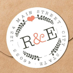 Newlyweds - Round Address Label