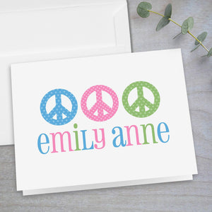 Peace Signs - Folded Note Card