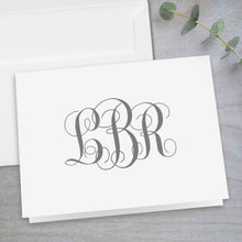 Load image into Gallery viewer, Interlocking Monogram - Folded Note Card