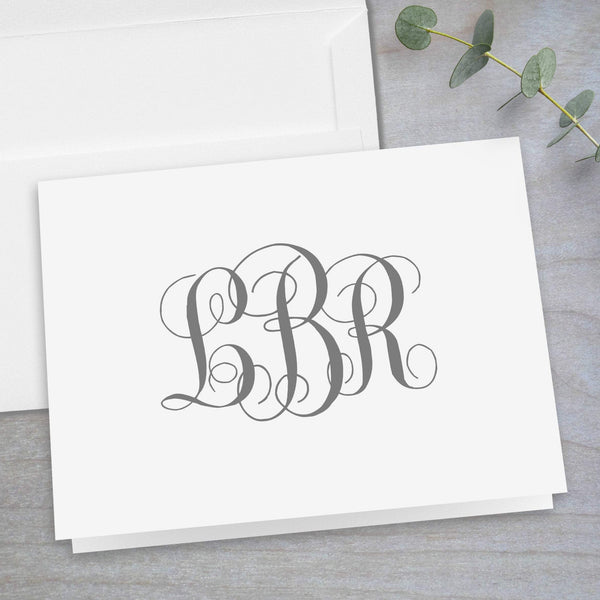 Interlocking Monogram - Folded Note Card