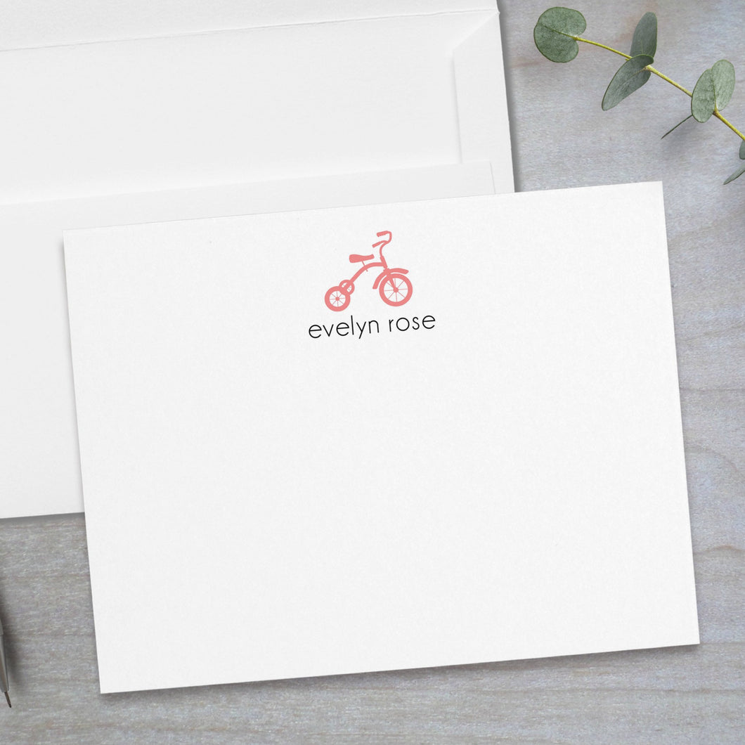 Tricycle -  Flat Note Card