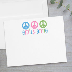 Peace Signs -  Flat Note Card