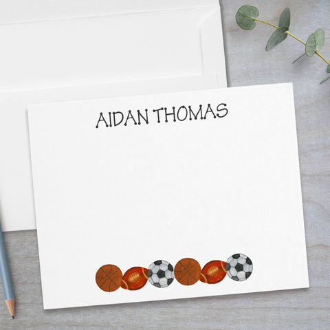 Sports -  Flat Note Card
