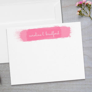 Watercolor Swatch -  Flat Note Card