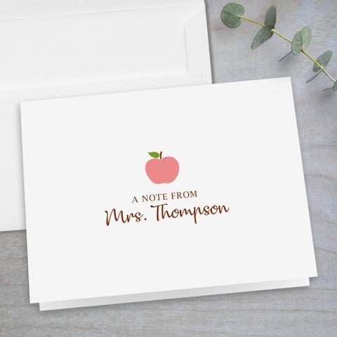 Pink Apple -  Folded Note Card