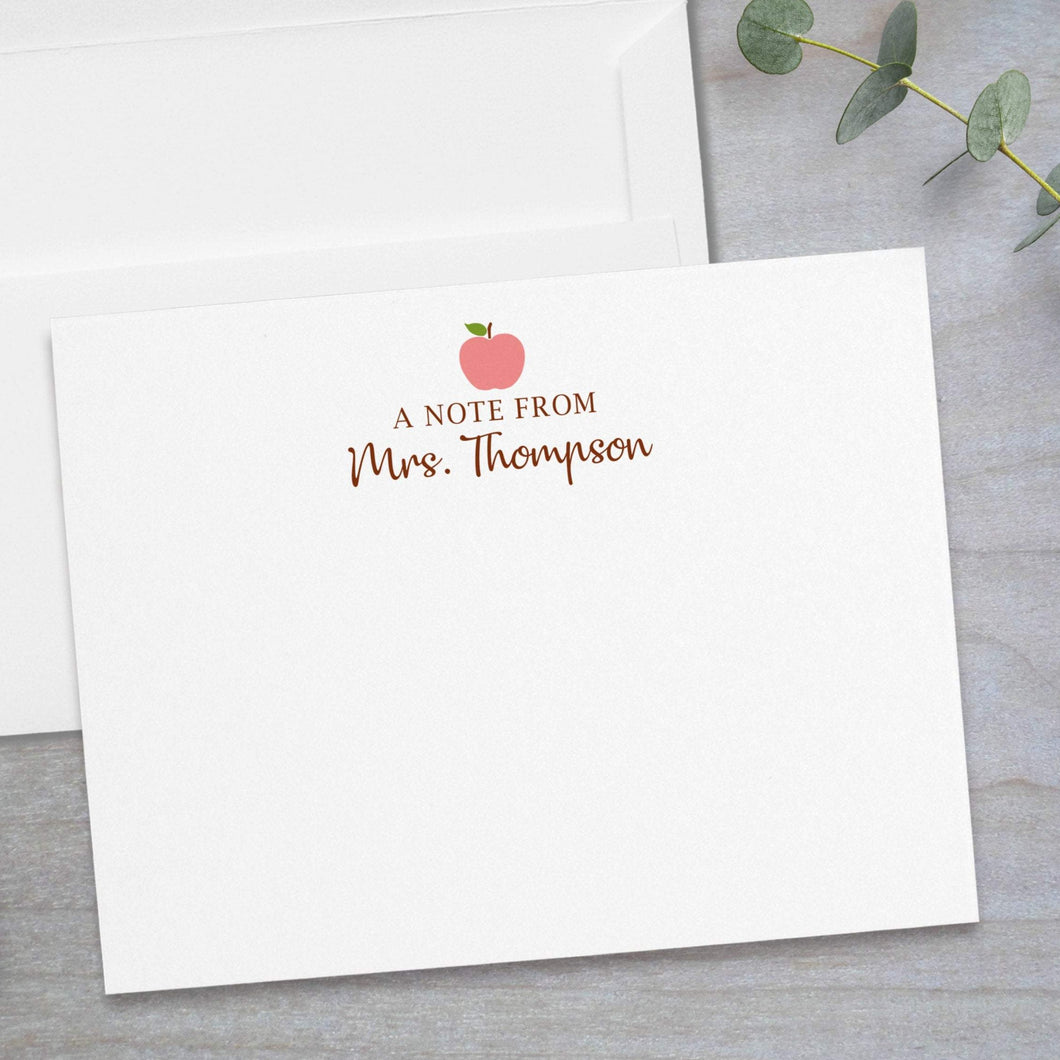 Pink Apple - Flat Note Card