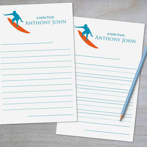 Surfer - Lined Stationery Sheets