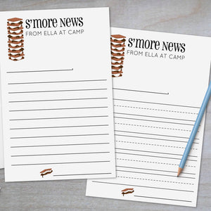 Canoe and Bear Paw - Lined Camp Stationery Sheets