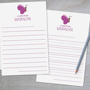 Butterfly - Lined Stationery Sheets