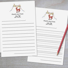 Load image into Gallery viewer, Holiday Reindeer - Lined Stationery Sheets
