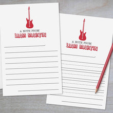 Load image into Gallery viewer, Rock Guitar - Lined Stationery Sheets