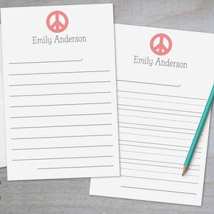 Peace Sign - Lined Stationery Sheets