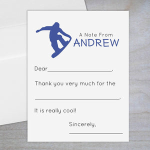Snowboarder - Fill-in Flat Note Card