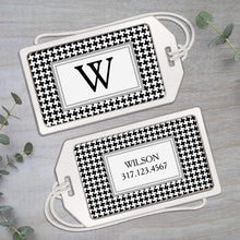 Load image into Gallery viewer, Houndstooth - Clear Acrylic Luggage Tag