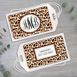 Animal Print - Clear Acrylic Luggage Tag