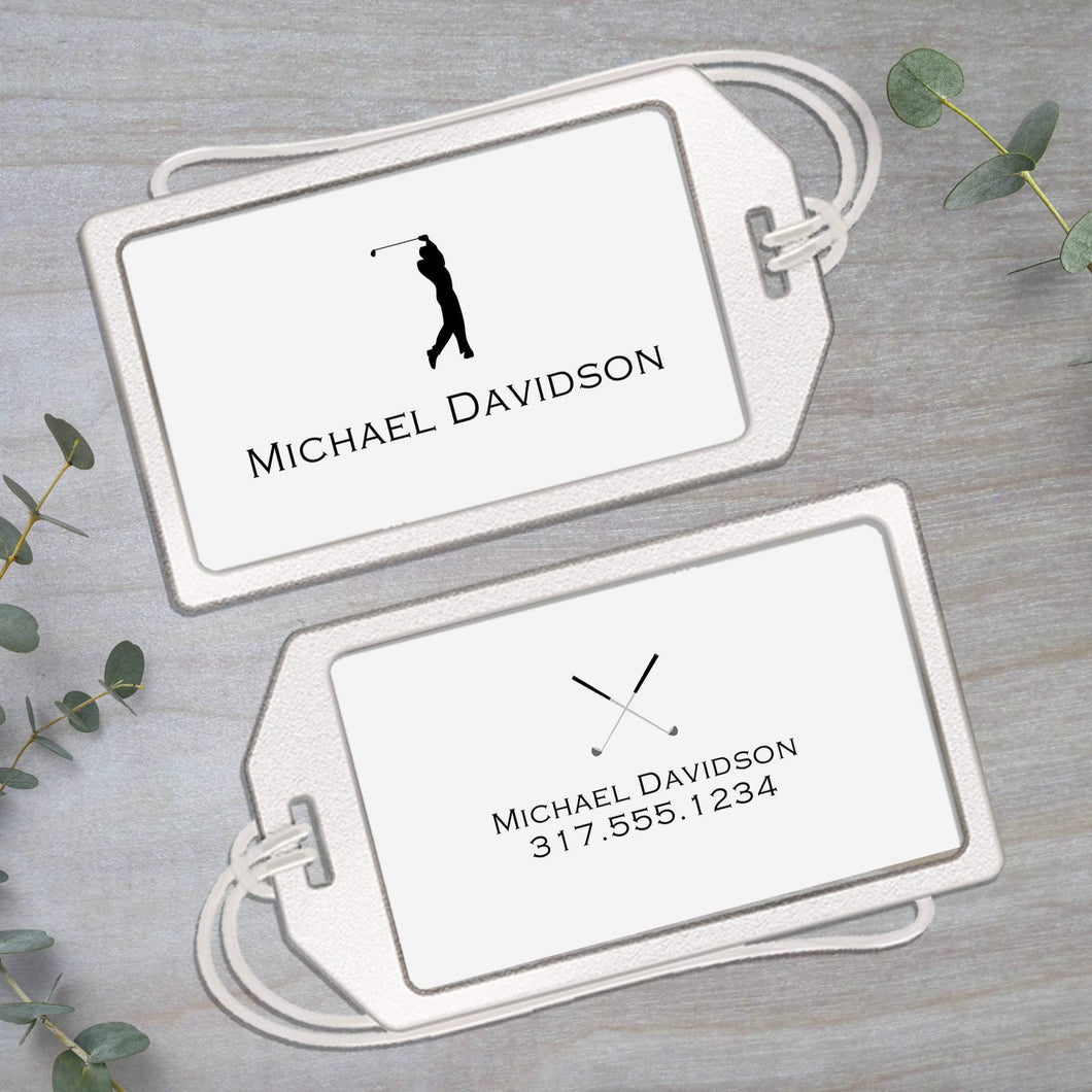 Golfer - Clear Acrylic Luggage Tag