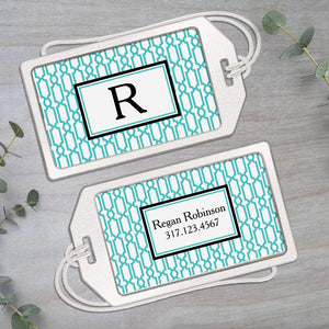 Modern Geometric Design - Clear Acrylic Luggage Tag