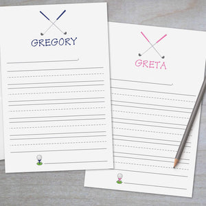 Golf - Lined Stationery Sheets