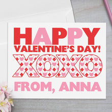 Load image into Gallery viewer, Argyle Hearts - Valentine's Day Card