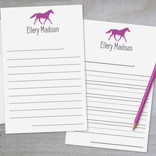 Load image into Gallery viewer, Horse - Lined Stationery Sheets