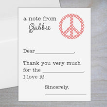 Load image into Gallery viewer, Polka Dotted Peace Sign - Fill-in Flat Note Card