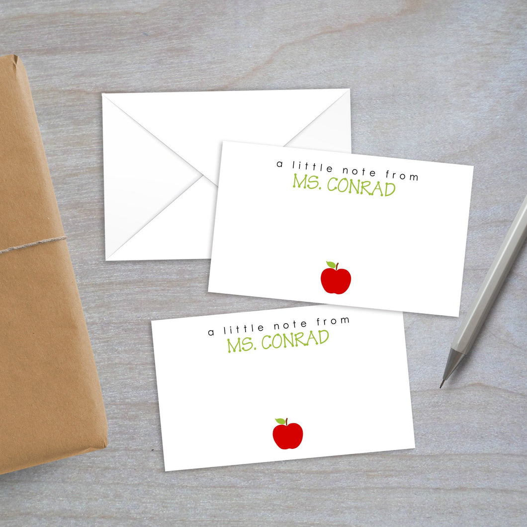 teacher apple enclosure card