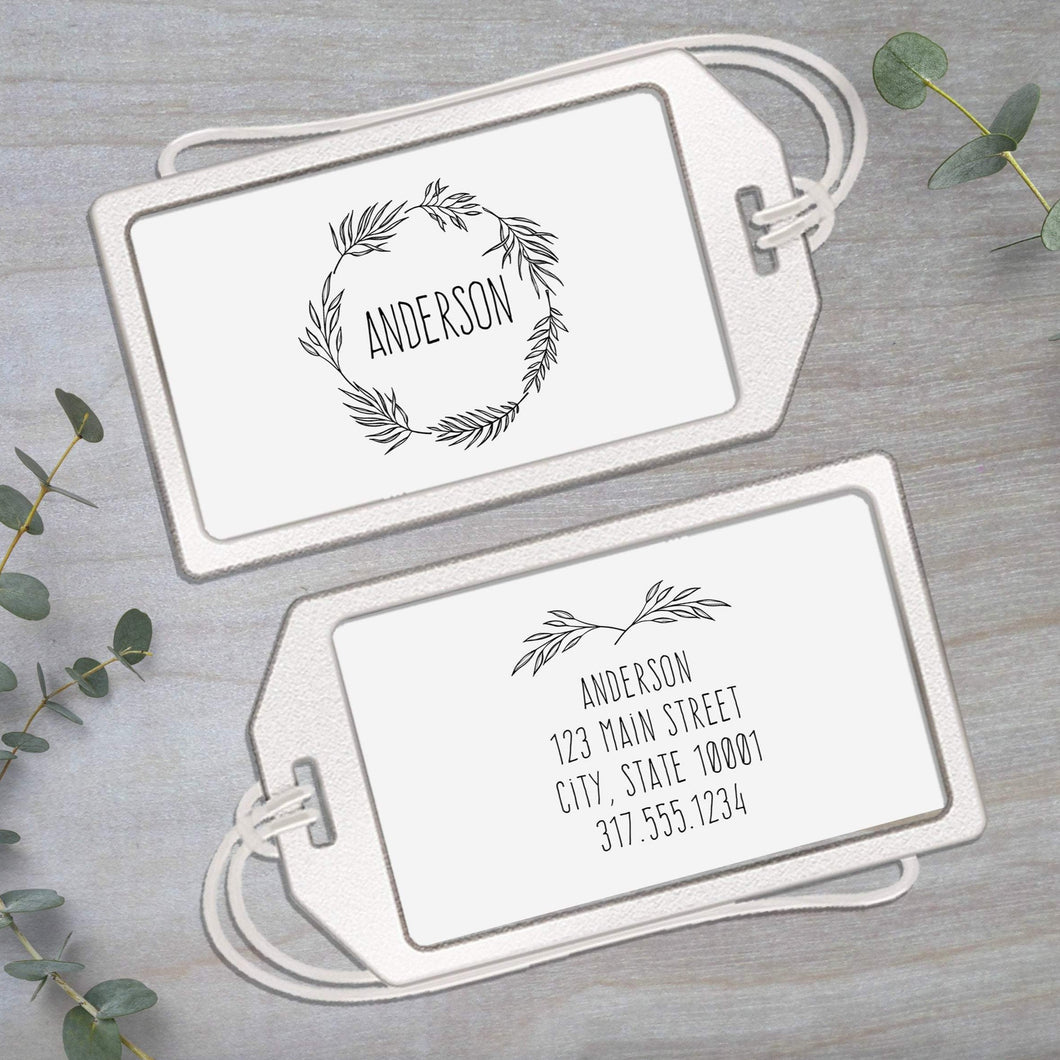 Branches - Clear Acrylic Luggage Tag