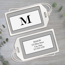 Load image into Gallery viewer, Monogram Big Initial - Clear Acrylic Luggage Tag