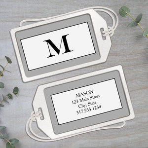 Monogram Big Initial - Clear Acrylic Luggage Tag