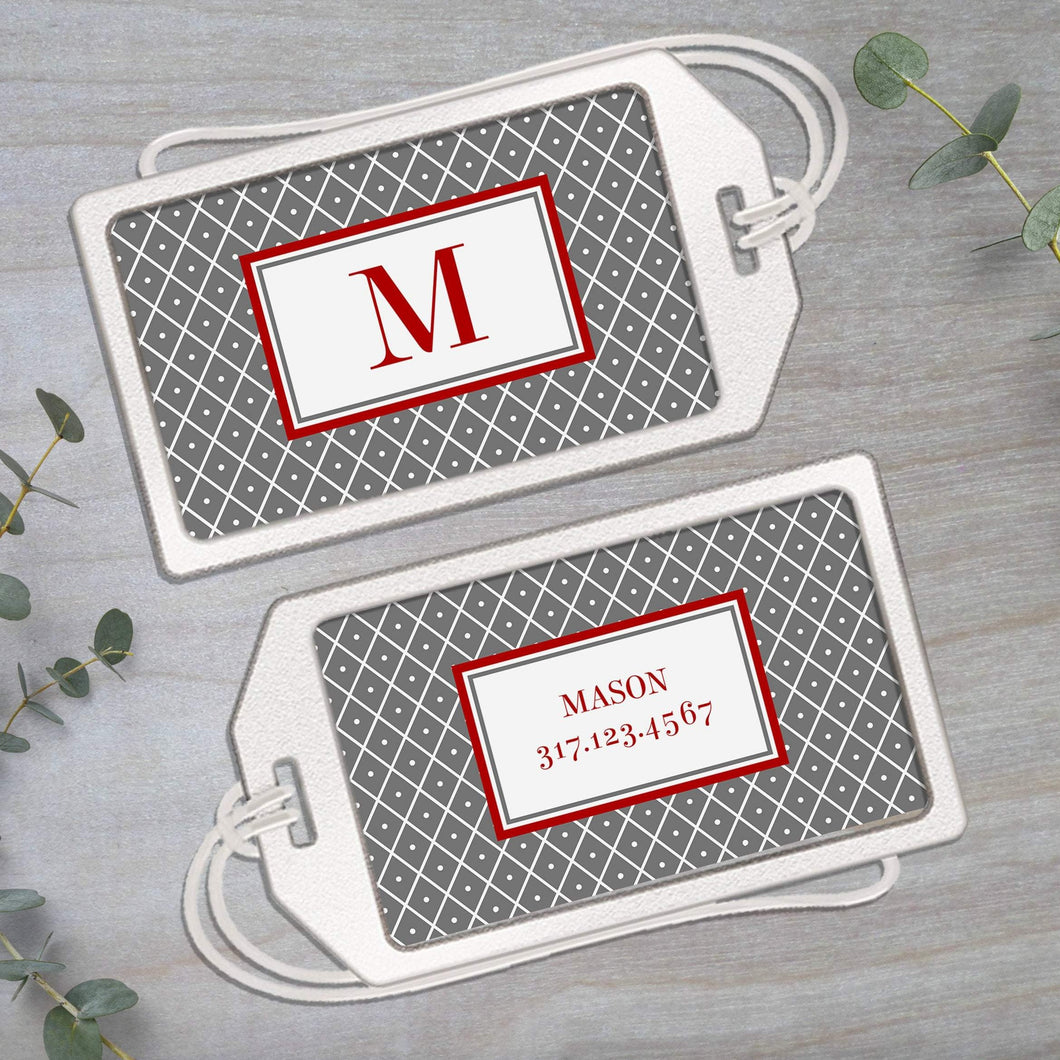 Dotty - Clear Acrylic Luggage Tag