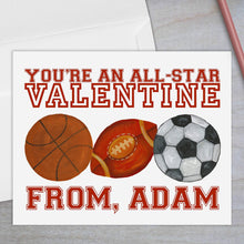 Load image into Gallery viewer, All Star Sports - Valentine's Day Card