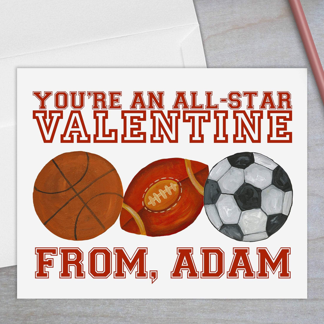 All Star Sports - Valentine's Day Card