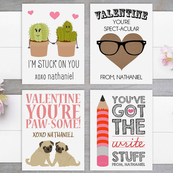 Puns - Personalized Valentine's Day Cards