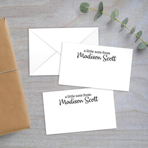 A Little Note - Gift Enclosure
