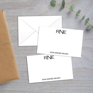 block monogram enclosure card