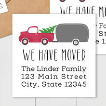 Load image into Gallery viewer, We Have Moved - Christmas Holly Sticker - Square Address Label
