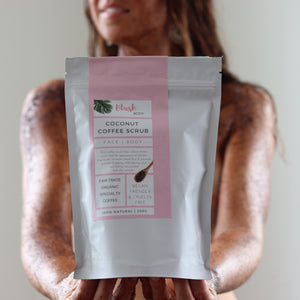 Coconut Coffee Scrub - Blush Body