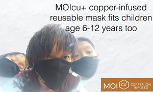 Copper-infused reusable mask for children - give your children comfortable masks for all day protection