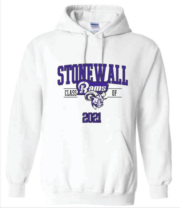 SCI 2021 Stonewall Class of 2021 White Hoodie IN STOCK READY