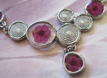 Load image into Gallery viewer, Pink Narcissus Real Flower Silver Plated Necklace