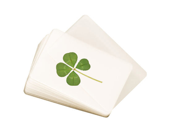Laminated Real Genuine Four Leaf Clover